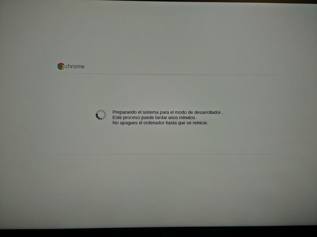 Chromebox, modo desarrollador