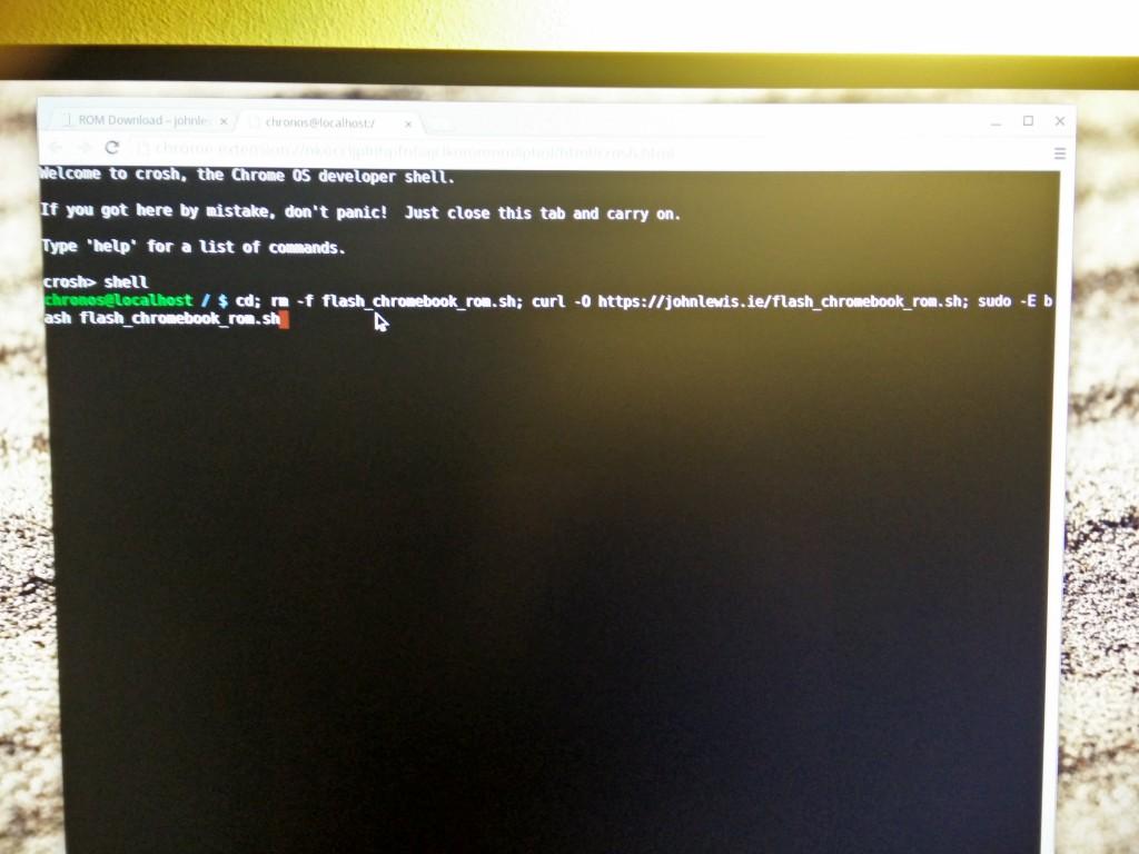 Chromebox, grabar firmware