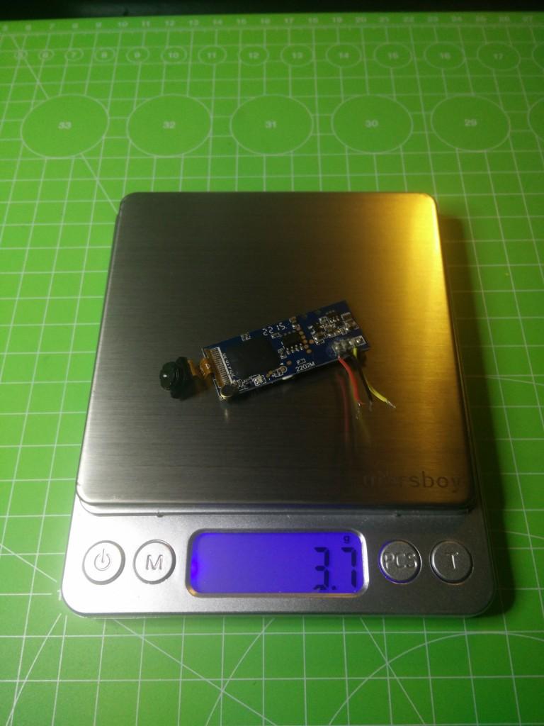 Syma X5 cámara peso 3,7 gr