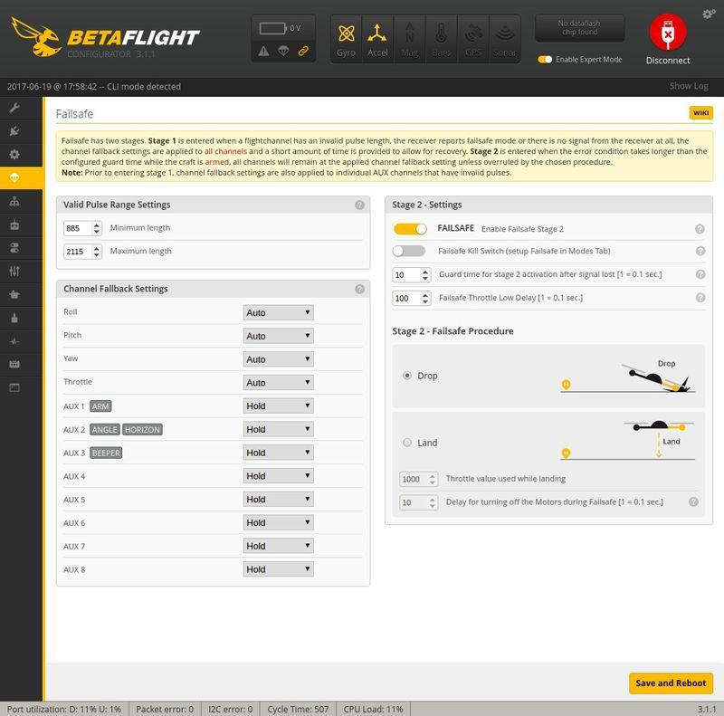 Failsafe Betaflight Q100