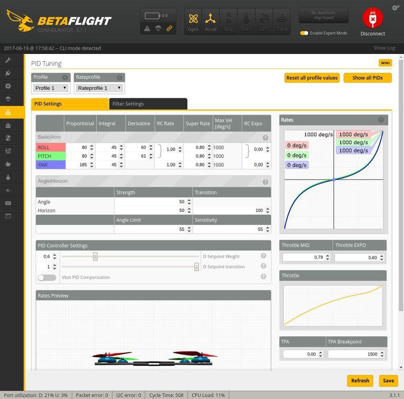 PID Tuning Betaflight Q100