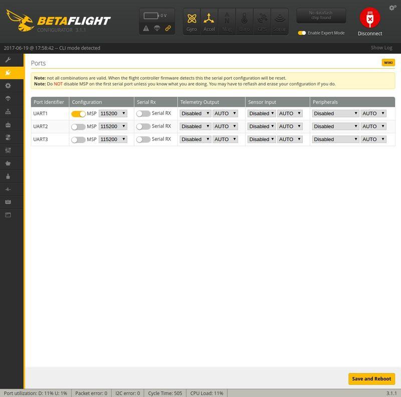Ports Betaflight Q100