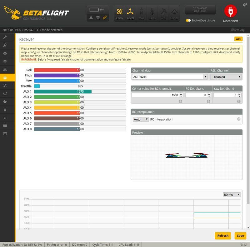 Receiver Betaflight Q100