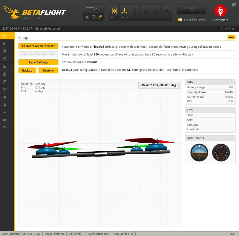 Setup Betaflight Q100